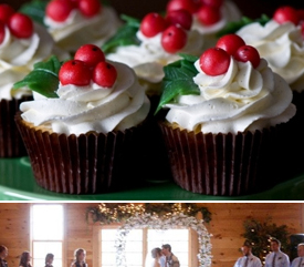 Bouquet By Smoky Mountain Woodcrafts Winter Wedding Christmas Cupcakes